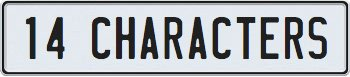 14 Character European License Plate