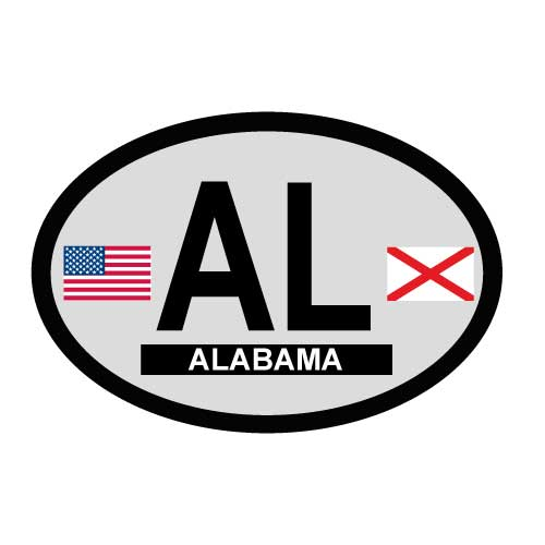 Alabama Oval Decal