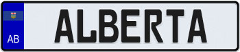 Alberta Euro Style Licence Plate
