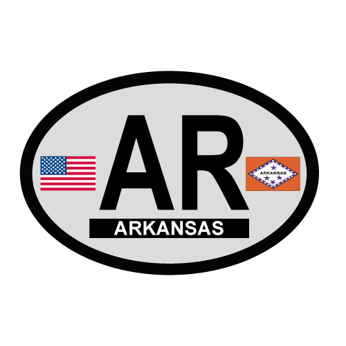 Arkansas Oval Decal