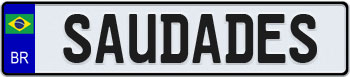 Brazil Euro Style License Plate