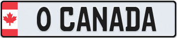Canada Flag Euro Style Licence Plate