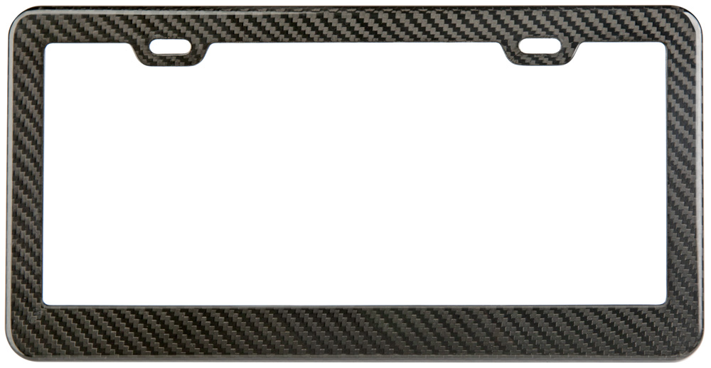 Gloss Carbon Fiber License Plate Frame