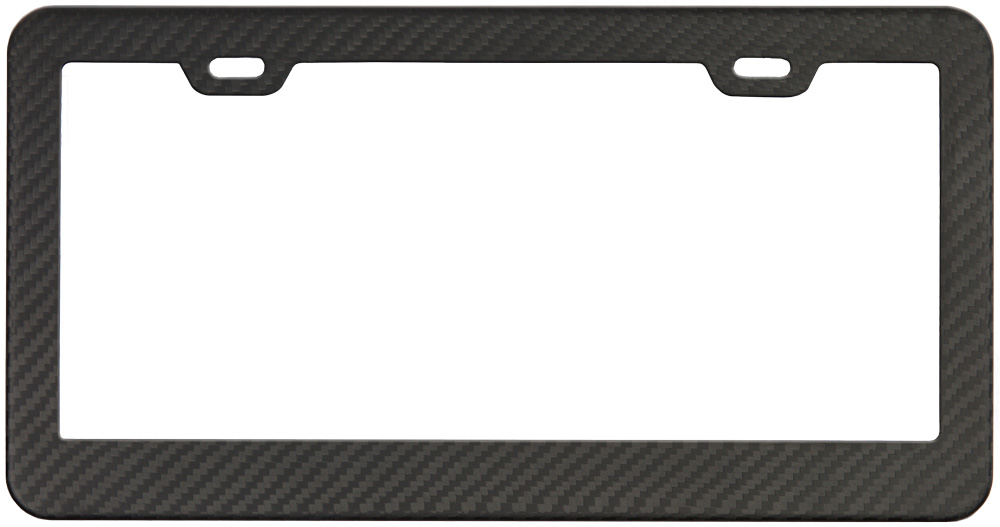 Matte Carbon Fiber License Plate Frame