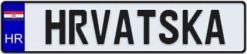 Croatia European License Plate