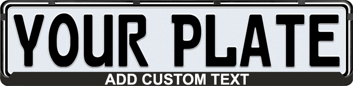 Black European License Plate Mounting Frame