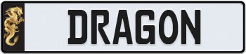 Dragon Euro Style License Plate