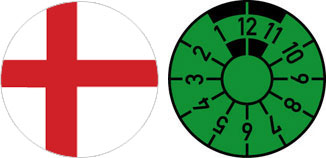 England Flag Registration Seal