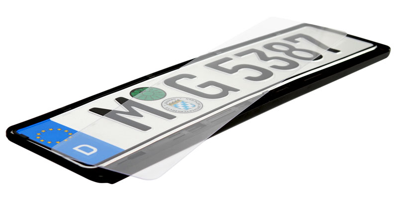 Clear Euro License Plate Cover
