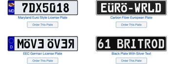 Sample Euro Plate Ideas
