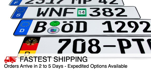 European License Plates - Custom European License Plates :
