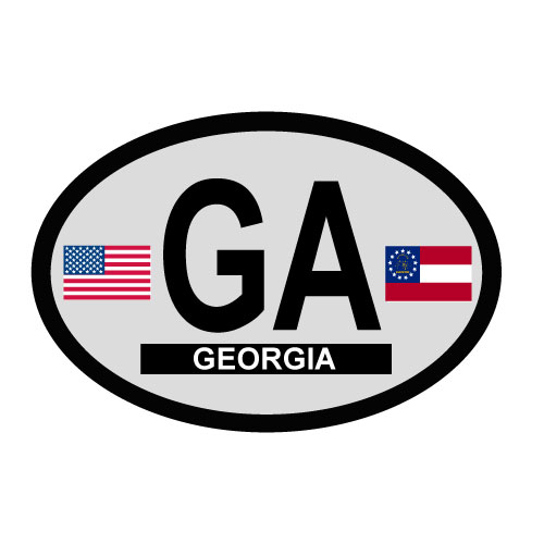 Georgia Oval Decal