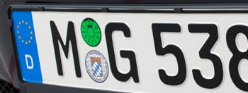German License Plate Registration Seals photo