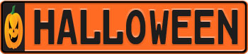 Halloween Pumpkin Euro Style License Plate