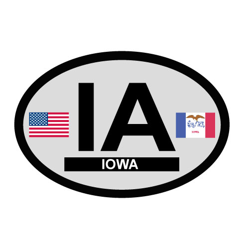 Iowa Oval Decal
