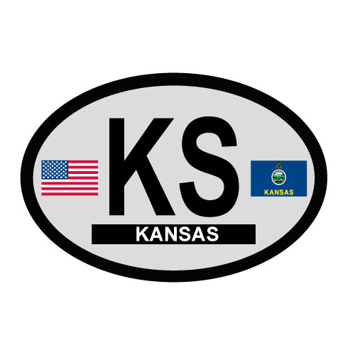 Kansas Oval Decal