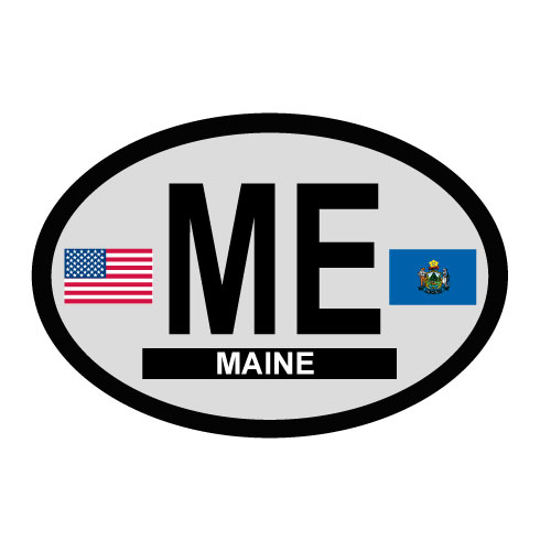 Maine Oval Decal