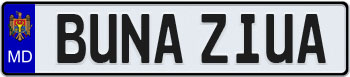 Moldova European License Plate