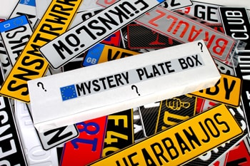 Mystery European License Plate Box