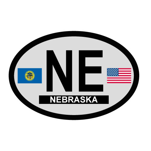 Nebraska Oval Decal
