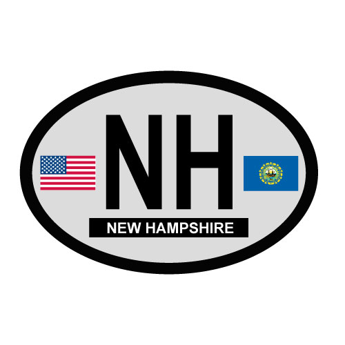 New Hampshire Oval Decal