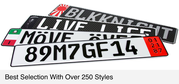 Other European License Plates Styles