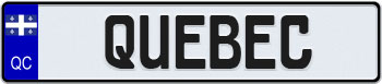 Québec Euro Style Licence Plate