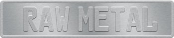 Ready To Paint Aluminum License Plate