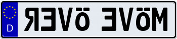 EEC German License Plate - REVO EVOM