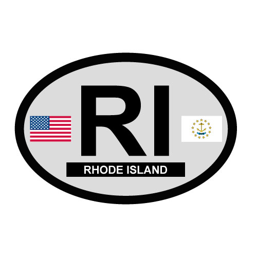 Rhode Island Oval Decal