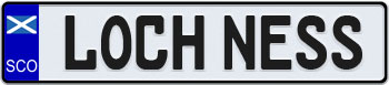 Scotland Flag Euro Style License Plate