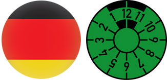 German Flag Registration Seal Set