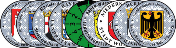 European License Plates Registration Seals Custom