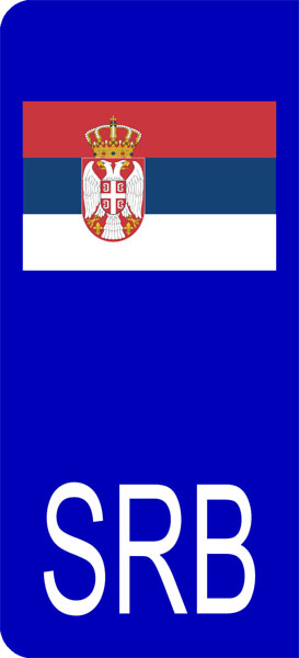 SERBIA SERBIAN FLAG BLACK License Plate Frame Tag Holder