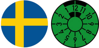Sweden Flag Registration Seal Set
