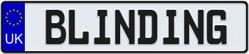 United Kingdom European License Plate