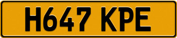 UK European License Plate