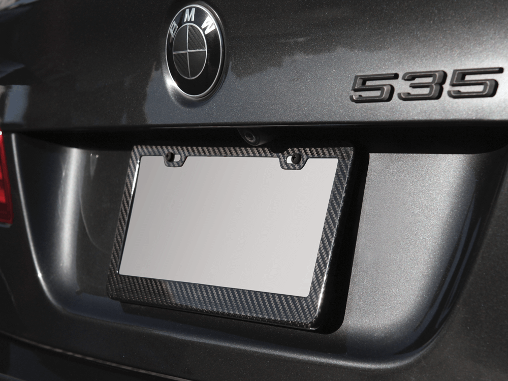 Carbon Fiber License Plate Frame & Fiber License Plate Frame