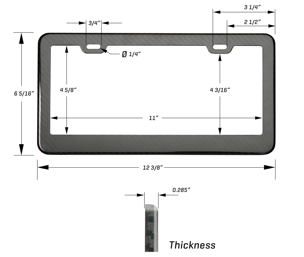 US Frame Dimensions