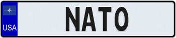 USA NATO Euro Style License Plate